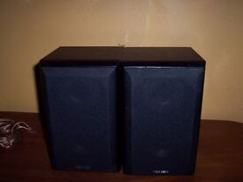 pair of tibo edge-mini hi-fi speakers