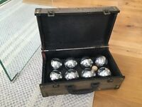 8 Piece Steel French Boules Set with Chest