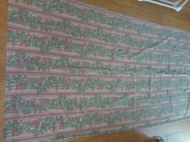 1 pair( 2 curtains ) of Full Length Vintage Cotton Curtains