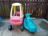 Little tikes car and see saw