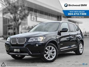 2013 BMW X3 28i Navigation! Technology & Premium Package!