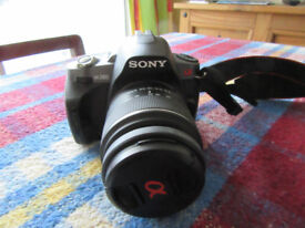 Sony Alpha 380 Digital Camera with additional zoom lens