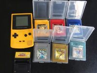 Pokemon games and gameboy