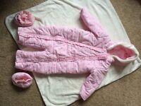 Girls snowsiut / coat size 12-18 months