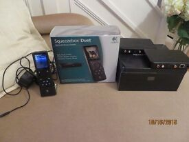 LOGITECH SQUEEZEBOX DUET MUSIC STREAMING SYSTEM