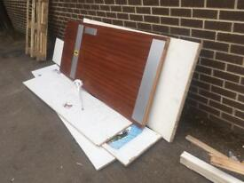Free firewood, safety boards and melamine