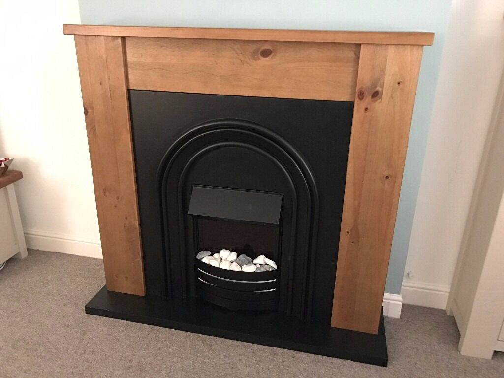 next hartford solid pine fireplace with integrated electric