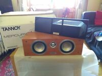 Tannoy 4x VRi & 1x VCi surround sound speakers