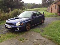 Subaru Impreza wrx, 2 litre turbo, 4wheel drive £1700 ono