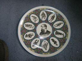 Wedgewood Decorative Wall Plate Charles Dickens With Characters