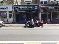 Motorcycles & scooters repair/sale shop