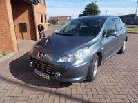 PEUGEOT 307 S 1.4 5 DOOR (2008) in SMOKE GREY, SERVICE HISTORY