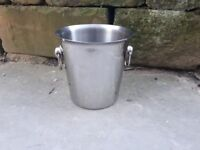 Vintage Retro Style Champagne Wine Ice Bucket Drinks Cooler Chiller Lager Metal Steel