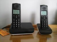 Cordless landline phone, as new, base unit with 2 handsets