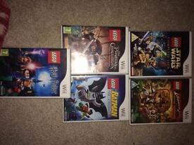 Various Lego Nintendo Wii games