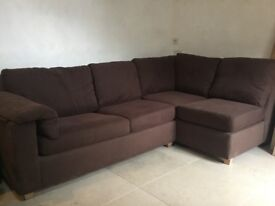 Brown corner sofa bed settee