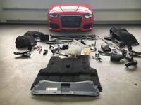Front end unit : Original Audi RSQ3 RS Q3 8U Xenon headlight bumper Radiator 2014
