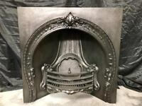 Antique Victorian car iron fireplace Surround Insert