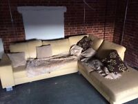 FREE YELLOW CORNER SOFA TO THOSE WHOM CAN COLLECT