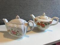 2 small China teapots
