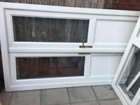 Double glazed French door with side panel (great condition)
