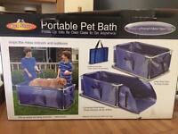 Portable dog bath in box