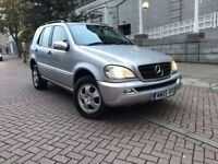 *AUTOMATIC*MERCEDES ML 4X4 DIESEL-FRESH YEAR MOT-FULL SERVICE HISTORY-SUPERB AWD-IDEAL WINTER TIME