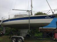 23ft Sailing Boat - Pegasus 700 and road trailer