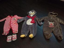 3 newborn Christmas outfit