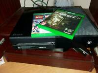 Xbox one with two games