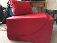 Red footstool/lounger