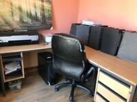 FREE W/c 16/7 only Spacious corner work desk, ideal for office or home use
