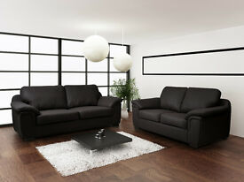 LEATHER & FABRIC ***3+2 SEAT SETS & CORNER SOFAS***AVAILABLE IN 4 COLOURS WITH MATCHING CHAIRS