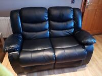 Leather 2 seater & 3 seater with cinema style seating
