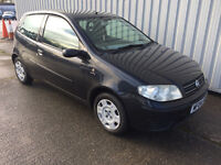 2004 (04) FIAT PUNTO 1.2 ACTIVE - BLACK - BEST COLOUR - HPI CLEAR - £399 only