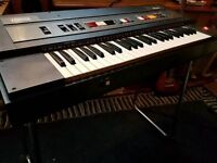 Farfisa Bravo portable keyboard with stand.