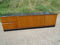 Lovely Retro Teak Upcycled Sideboard / Media Unit Excellent Condition Delivery Can Be Arranged.