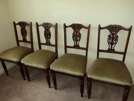 **Four Beautiful Original Edwardian Parlour Chairs.... Will consider selling as pairs**