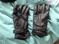 Vespa leather gloves