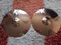 "Paiste Alpha Metal Edge 14"" Hi hat cymbals in excellent condition"