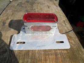 rear tail light unit for bobber or chopper