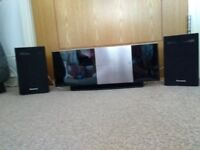 Panasonic home theater system DVD/CD player with docking station and radio