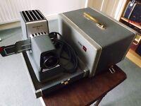 ARGUS 300 Series Vintage 35 mm Slide Projector c/w case and base & slide holder