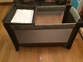 Mamas and Papas Lush Travel Cot with additional mattress
