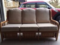 Large 3-seater conservatory sofa. Absolute bargain. Comfortable and good condition.