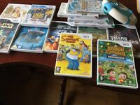 Wii games and wheel
