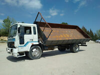 Left hand drive Volvo FL6.14 180 6 tyres 14 Ton tipper. On springs suspension.