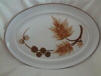 """DENBY COTSWOLD BROWN 12 1/2"""" OVAL SERVING PLATE"""