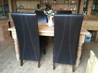 4 x faux leather dining chairs tall high back chairs