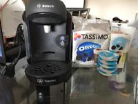 BOSCH TASSIMO COFFEE AND CHOCOLATE MACHINE,HARDLY USED, NO USE FOR IT ANYMORE